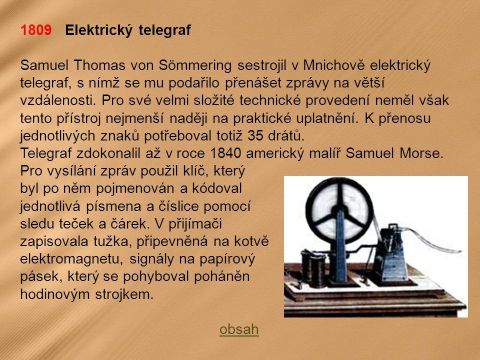 1809 Elektrický telegraf