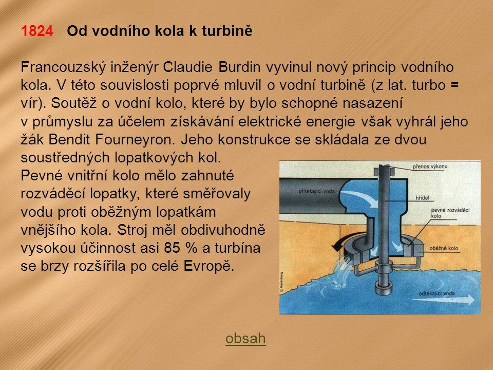 1824 Od vodního kola k turbině