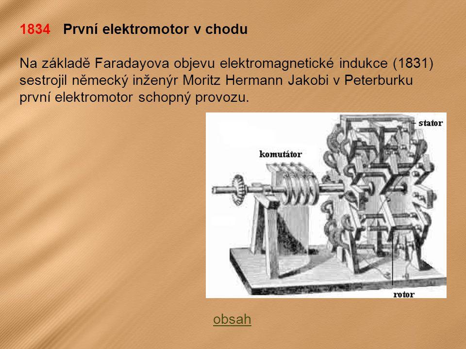 1834 První elektromotor v chodu