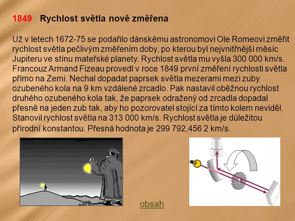1849 Rychlost světla nově změřena
