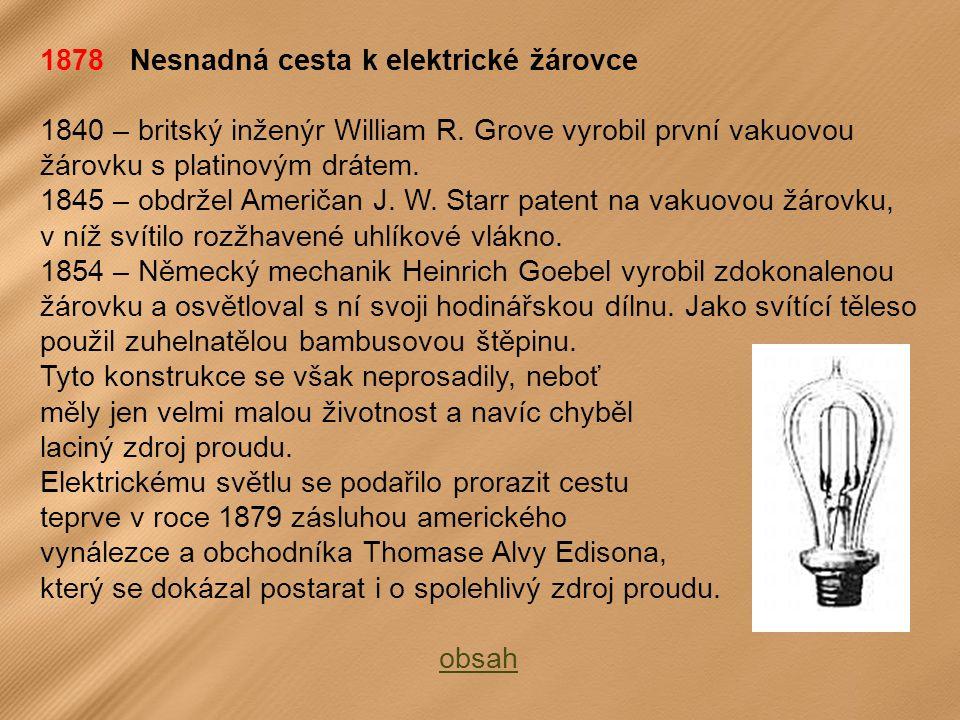 1878 Nesnadná cesta k elektrické žárovce
