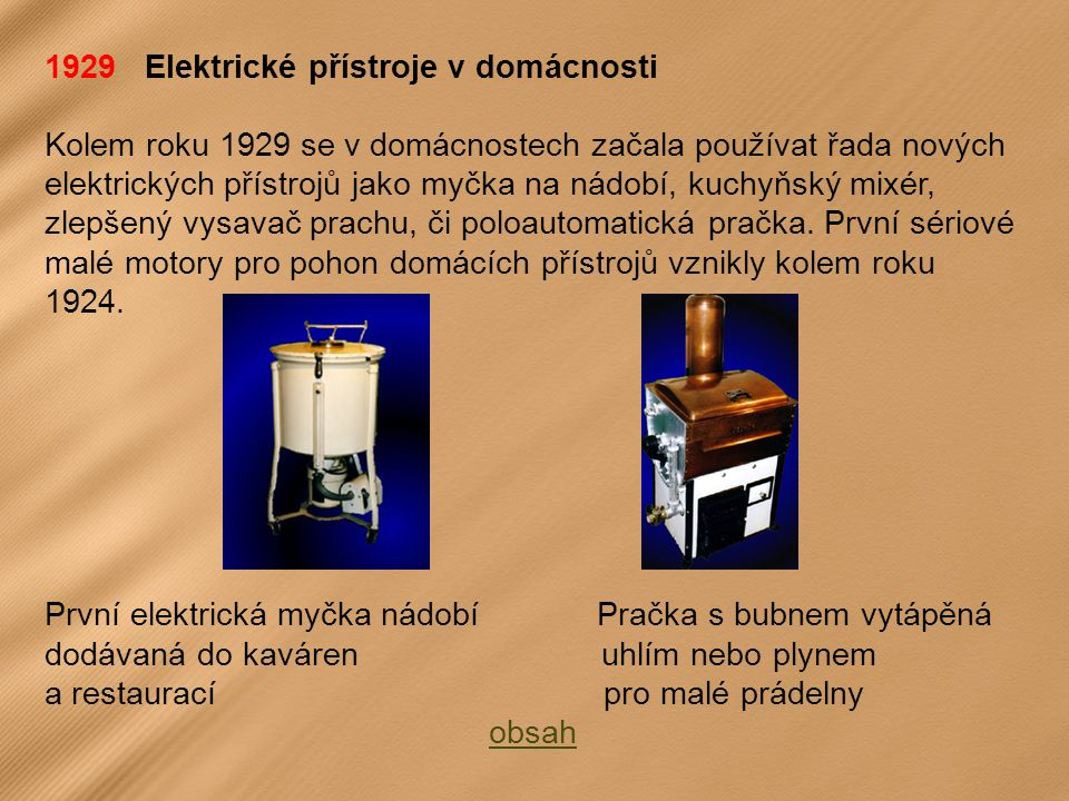 1929 Elektrické přístroje v domácnosti