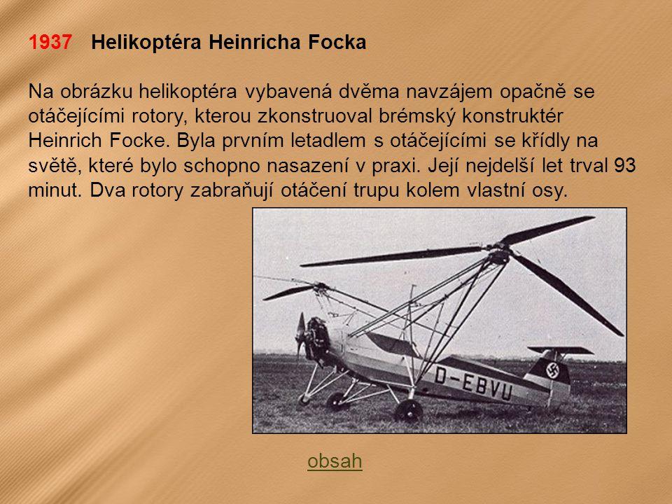 1937 Helikoptéra Heinricha Focka