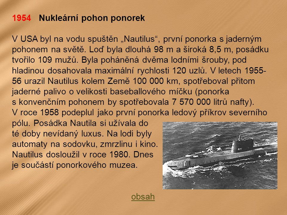 1954 Nukleární pohon ponorek