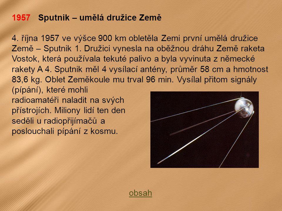 1957 Sputnik – umělá družice Země