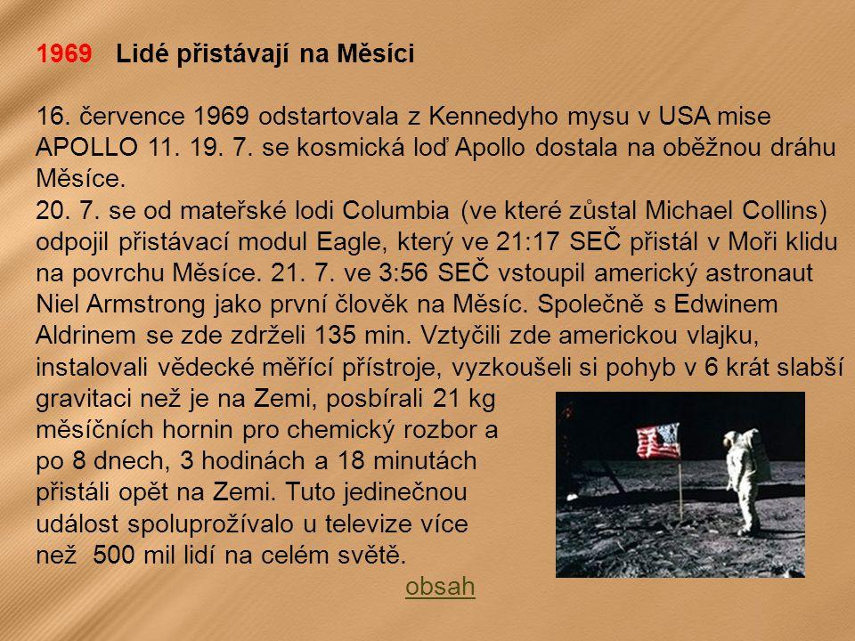 1969 Lidé přistávají na Měsíci