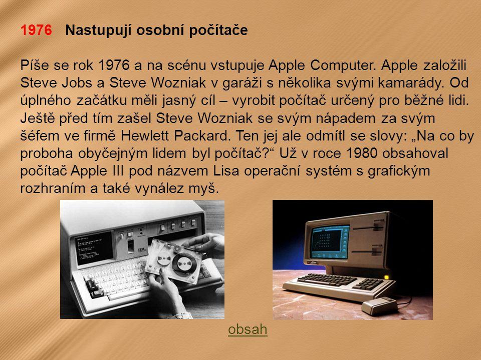 1976 Nastupují osobní počítače