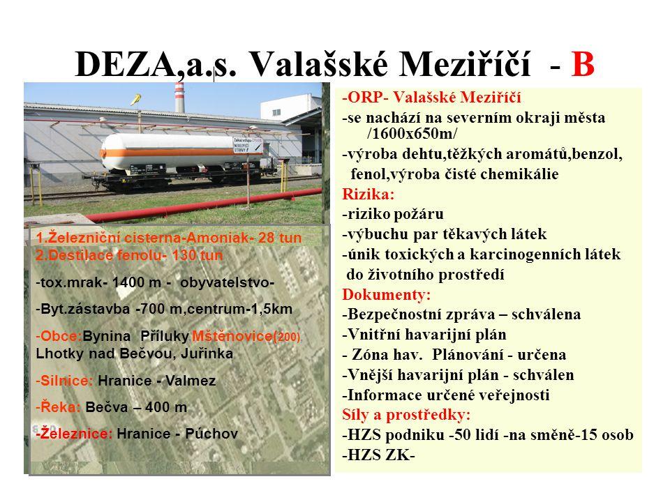 DEZA,a.s. Valašské Meziříčí - B