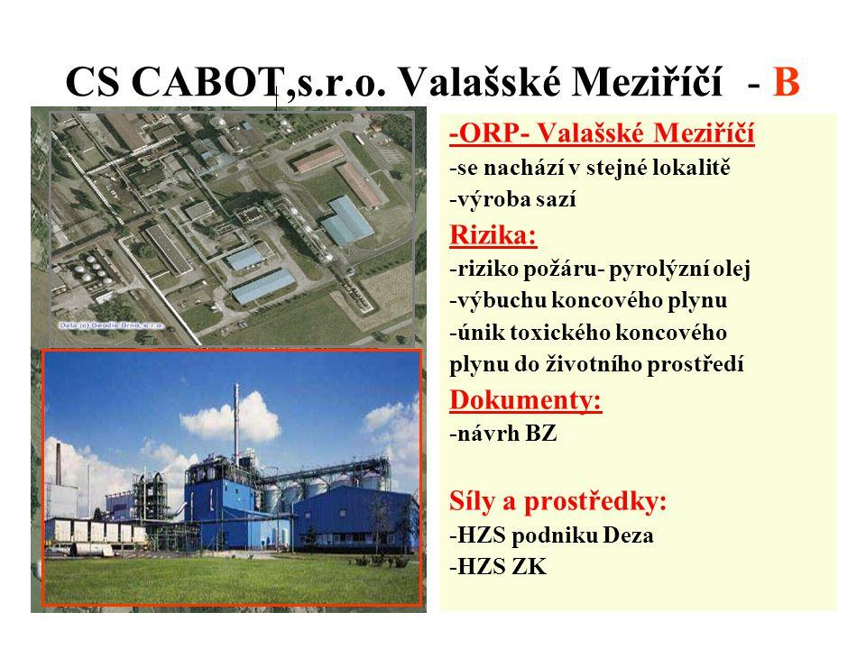 CS CABOT,s.r.o. Valašské Meziříčí - B