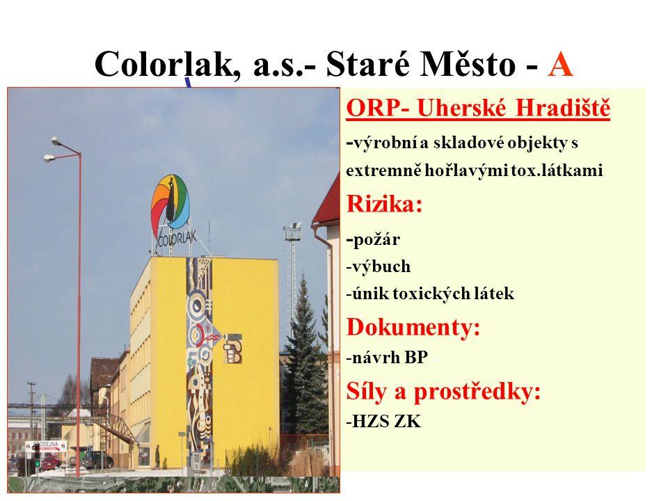 Colorlak, a.s.- Staré Město - A