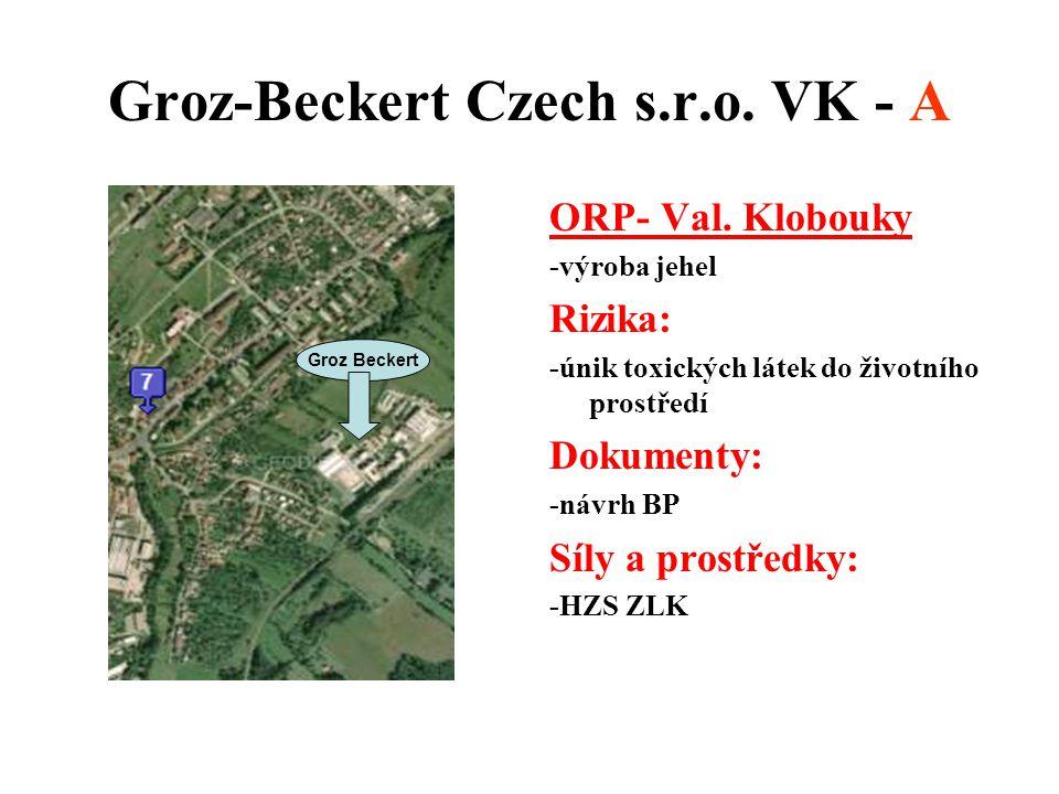 Groz-Beckert Czech s.r.o. VK - A