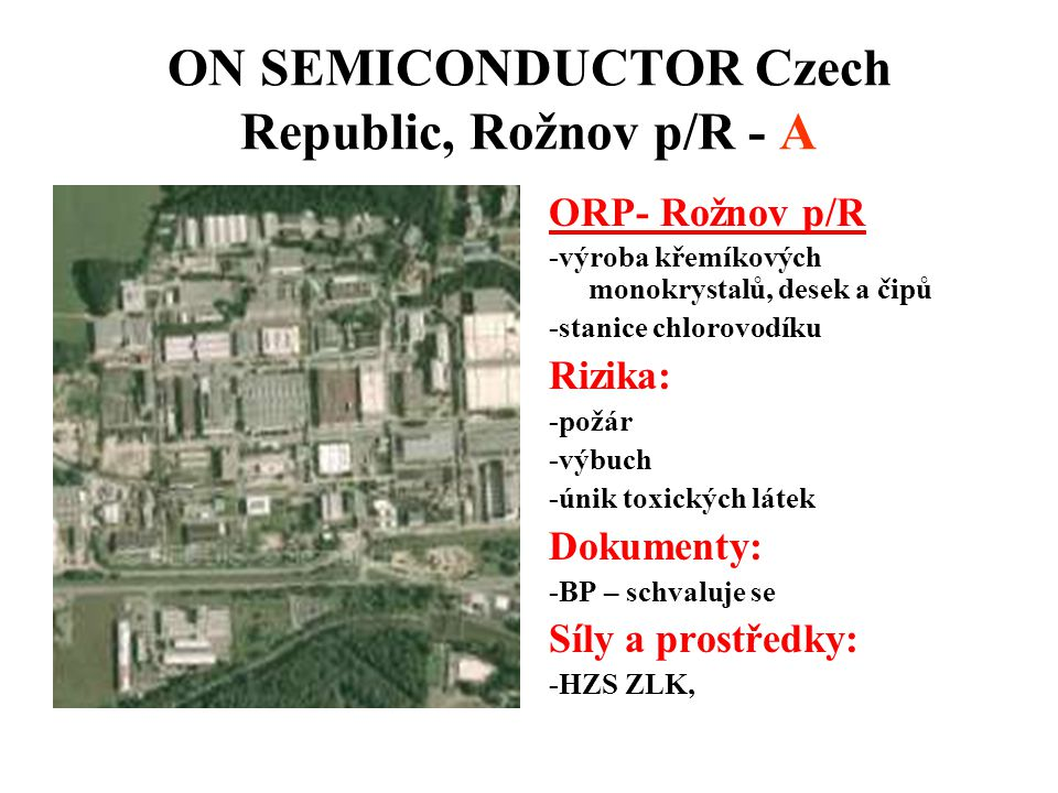 ON SEMICONDUCTOR Czech Republic, Rožnov p/R - A