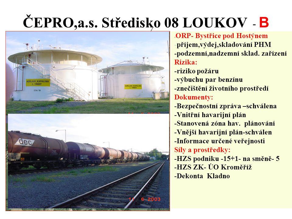 ČEPRO,a.s. Středisko 08 LOUKOV - B