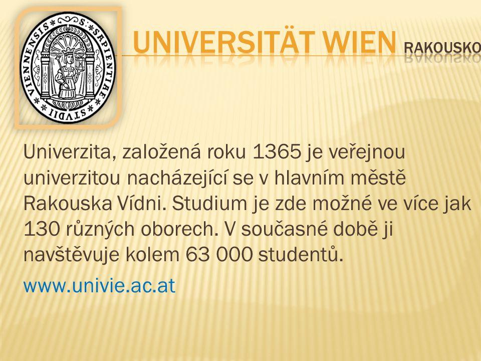 Universität Wien Rakousko