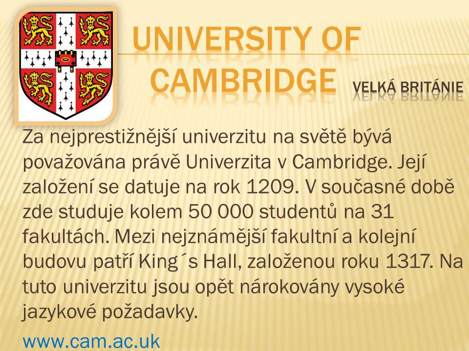 University of Cambridge Velká Británie