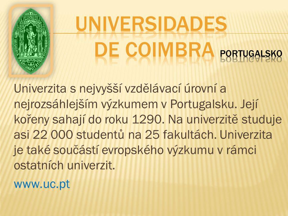 Universidades de Coimbra Portugalsko