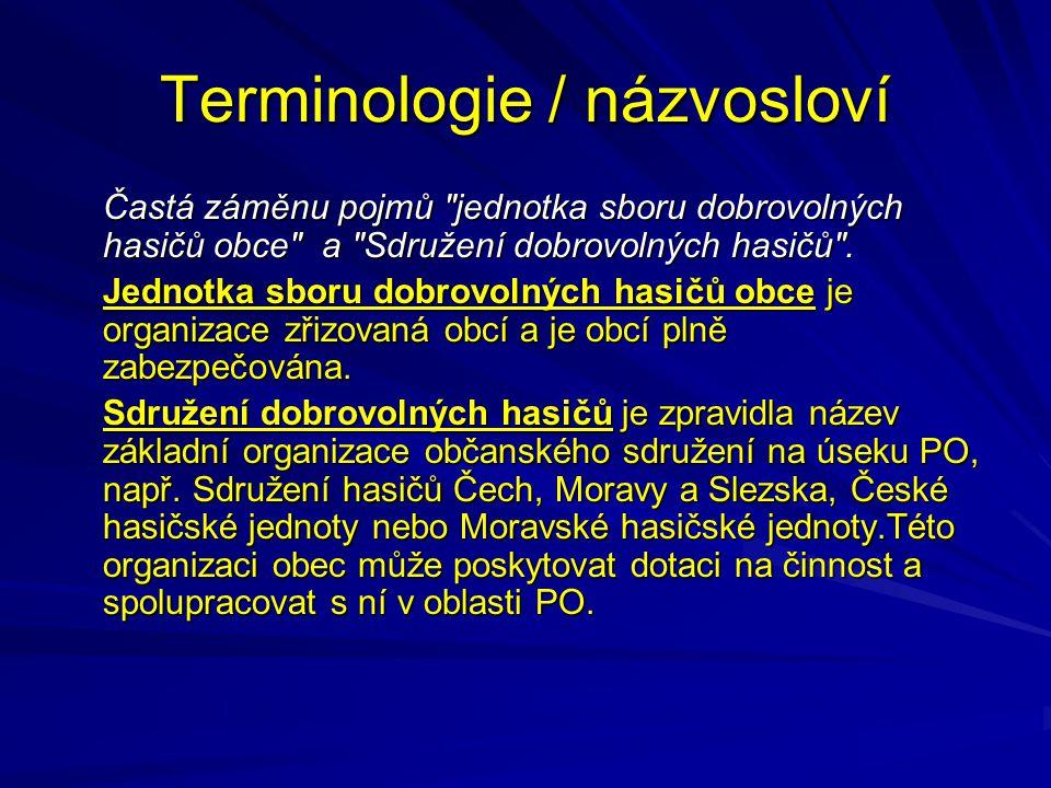 Terminologie / názvosloví