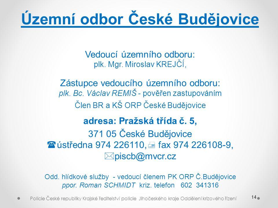 Územní odbor České Budějovice