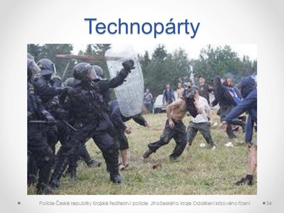 Technopárty Policie České republiky Krajské ředitelství policie Jihočeského kraje Oddělení krizového řízení.