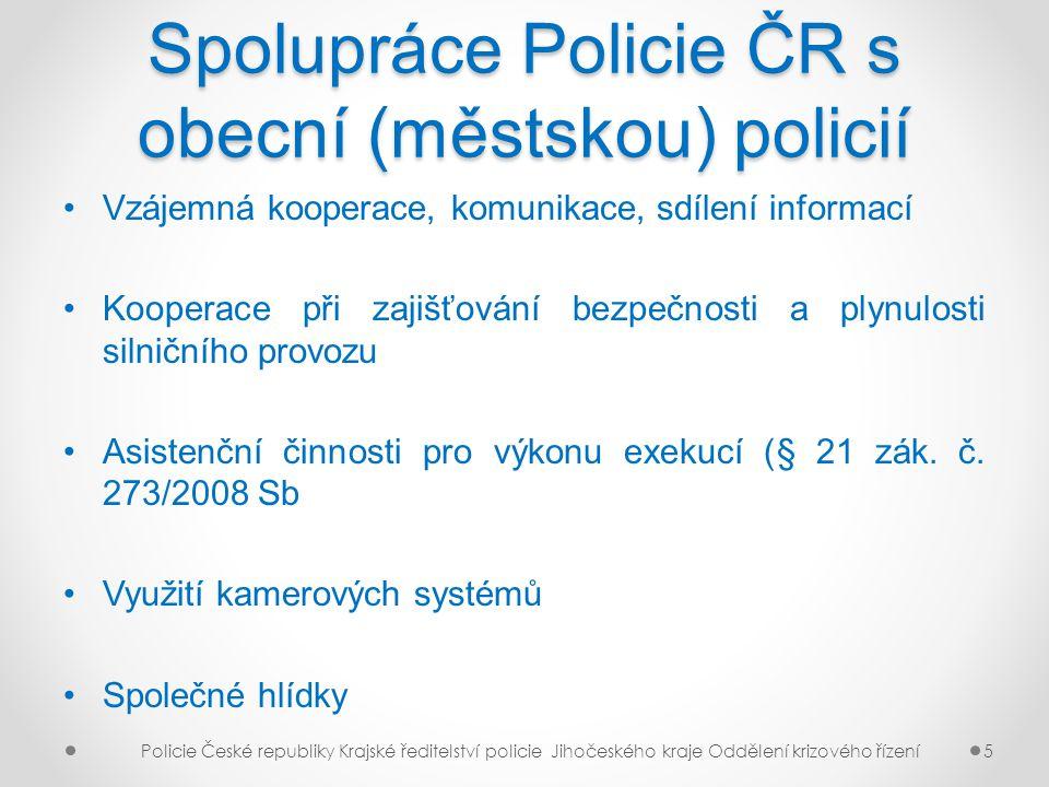 Spolupráce Policie ČR s obecní (městskou) policií