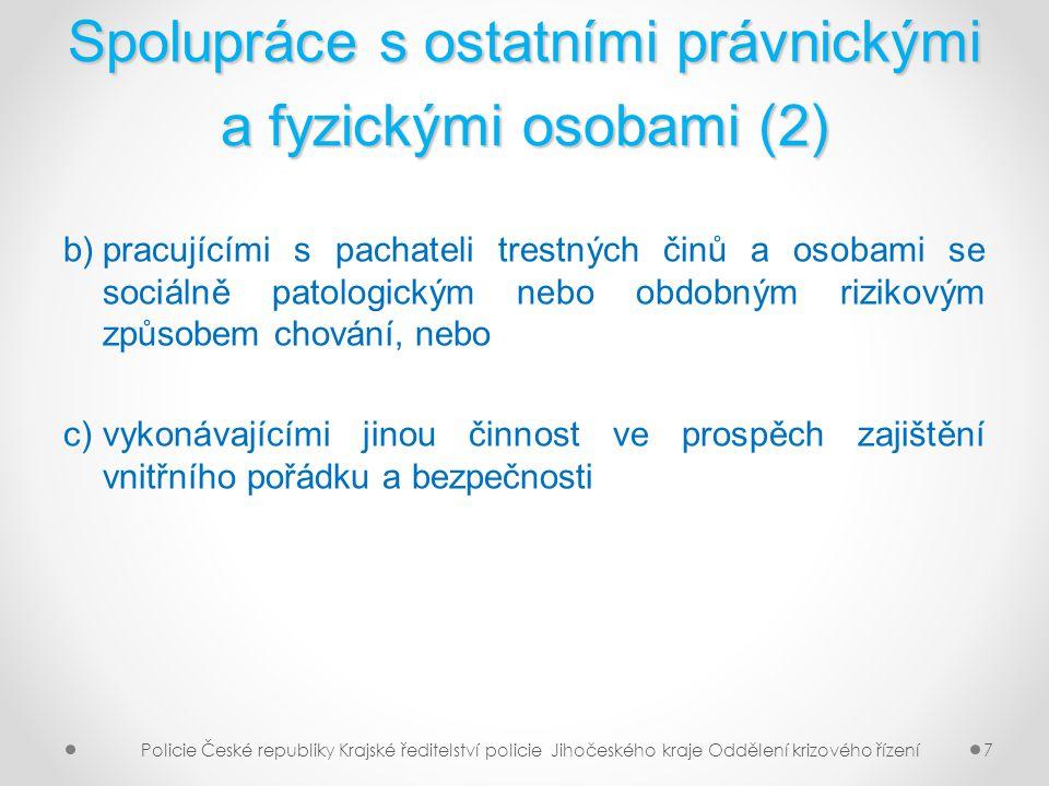 Spolupráce s ostatními právnickými a fyzickými osobami (2)