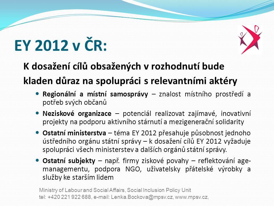 EY 2012 v ČR: K dosažení cílů obsažených v rozhodnutí bude