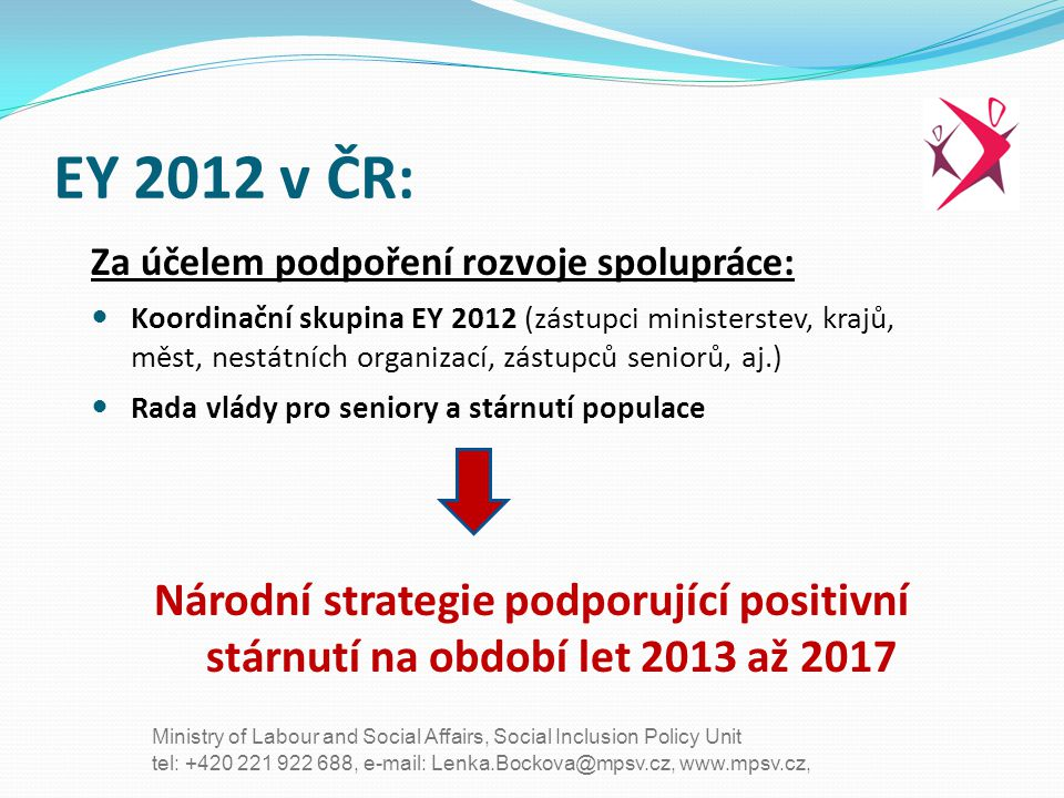 EY 2012 v ČR: Za účelem podpoření rozvoje spolupráce: