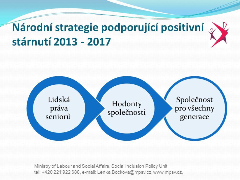 Národní strategie podporující positivní stárnutí 2013 - 2017