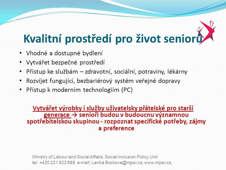 Kvalitní prostředí pro život seniorů