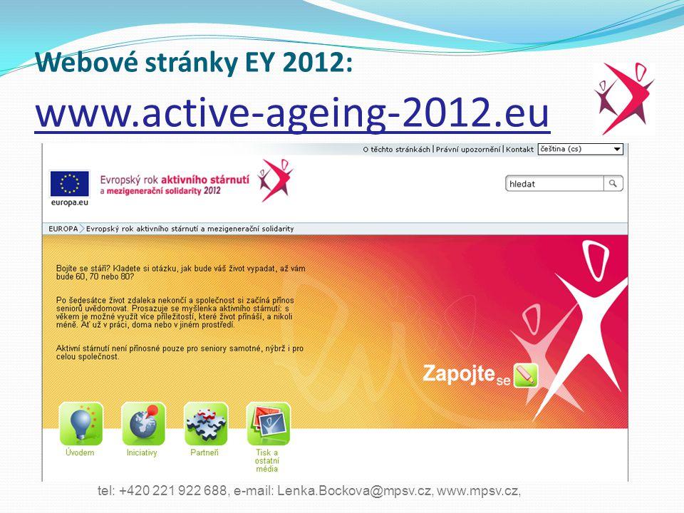 Webové stránky EY 2012: www.active-ageing-2012.eu
