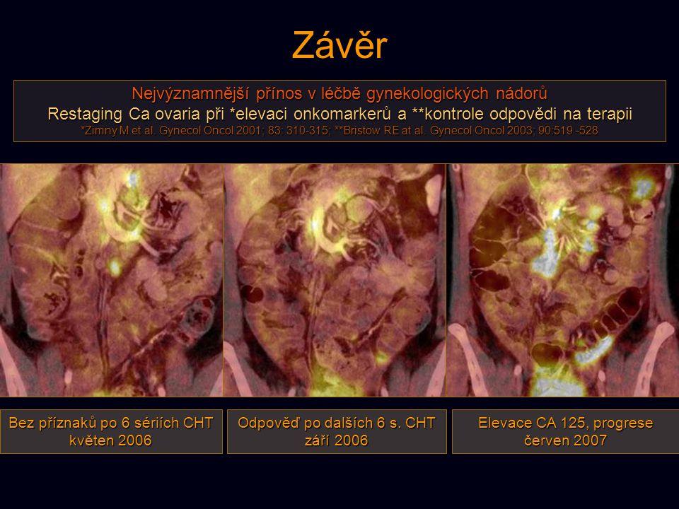 Závěr Nejvýznamnější přínos v léčbě gynekologických nádorů