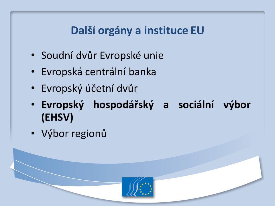Další orgány a instituce EU