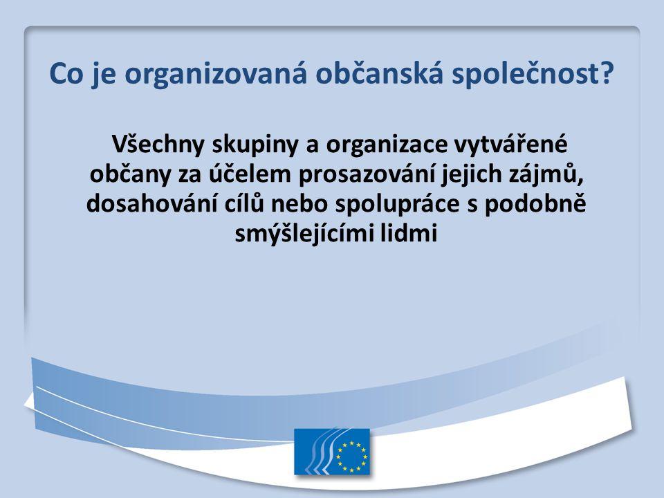 Co je organizovaná občanská společnost