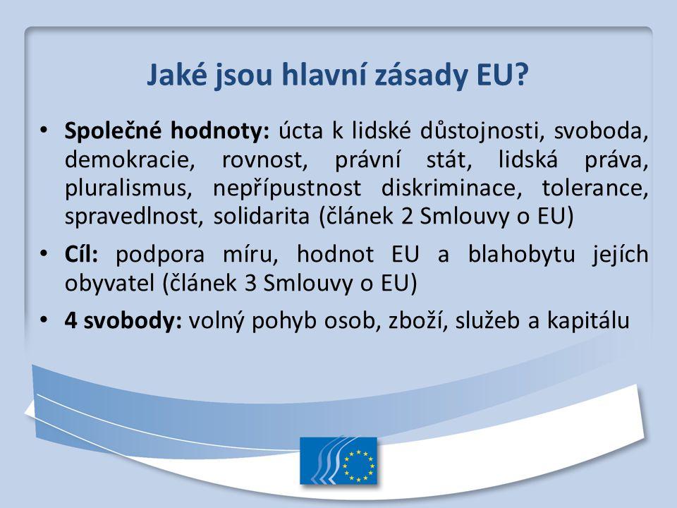 Jaké jsou hlavní zásady EU