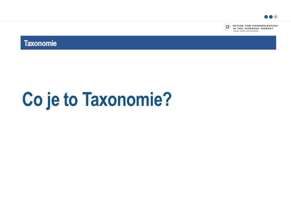 Co je to Taxonomie Taxonomie Taxonomie je pomocník při třídění.