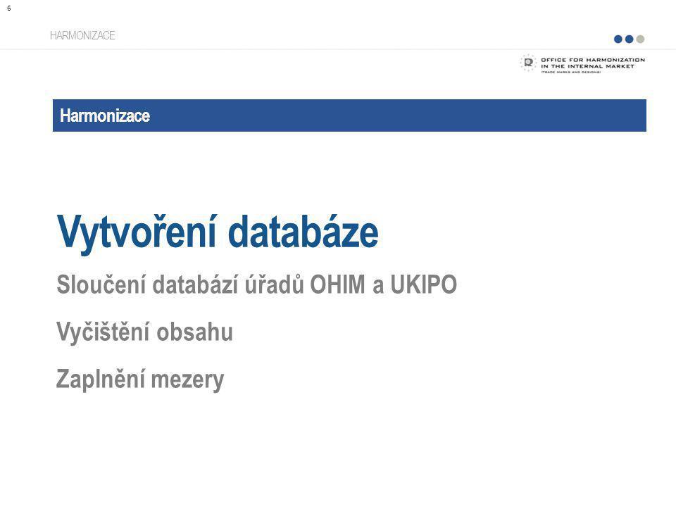 Vytvoření databáze Sloučení databází úřadů OHIM a UKIPO