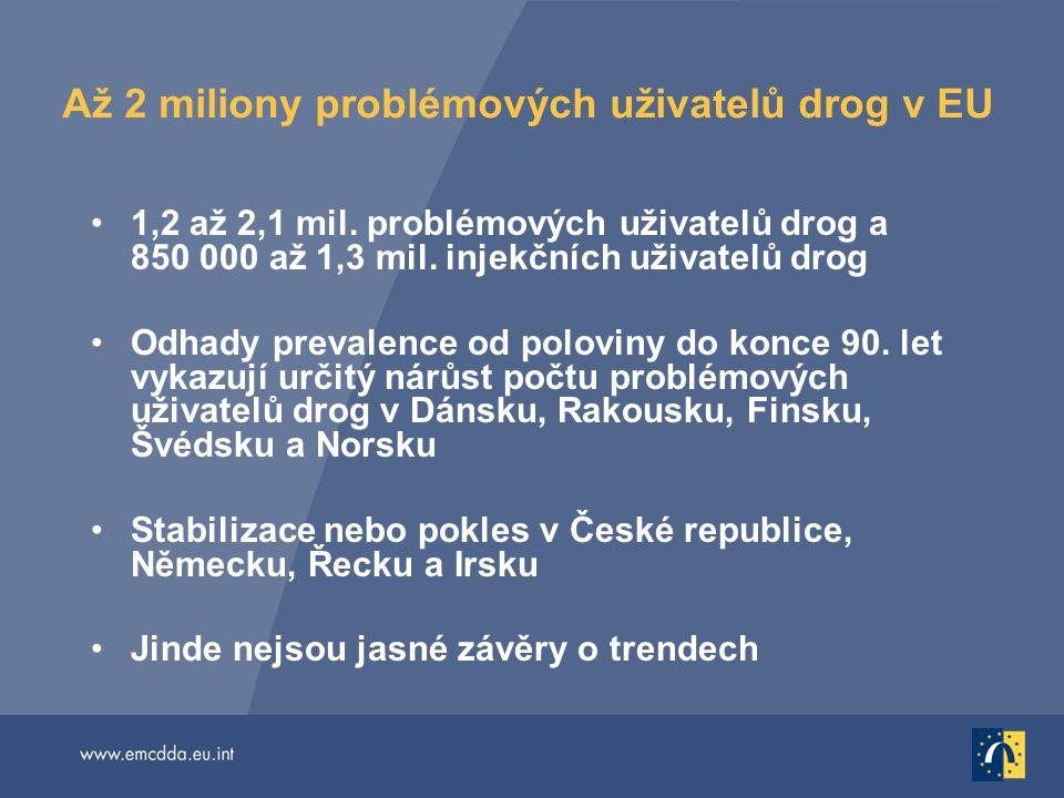 Až 2 miliony problémových uživatelů drog v EU