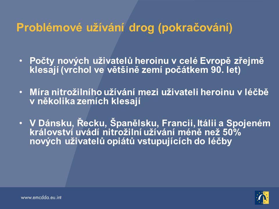 Problémové užívání drog (pokračování)