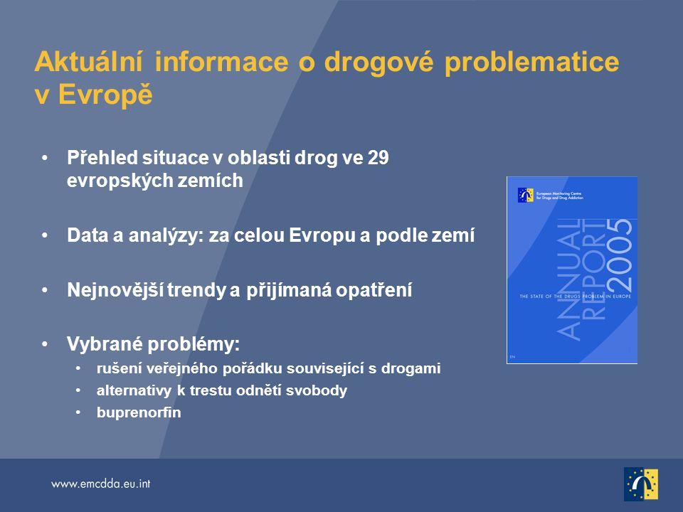Aktuální informace o drogové problematice v Evropě