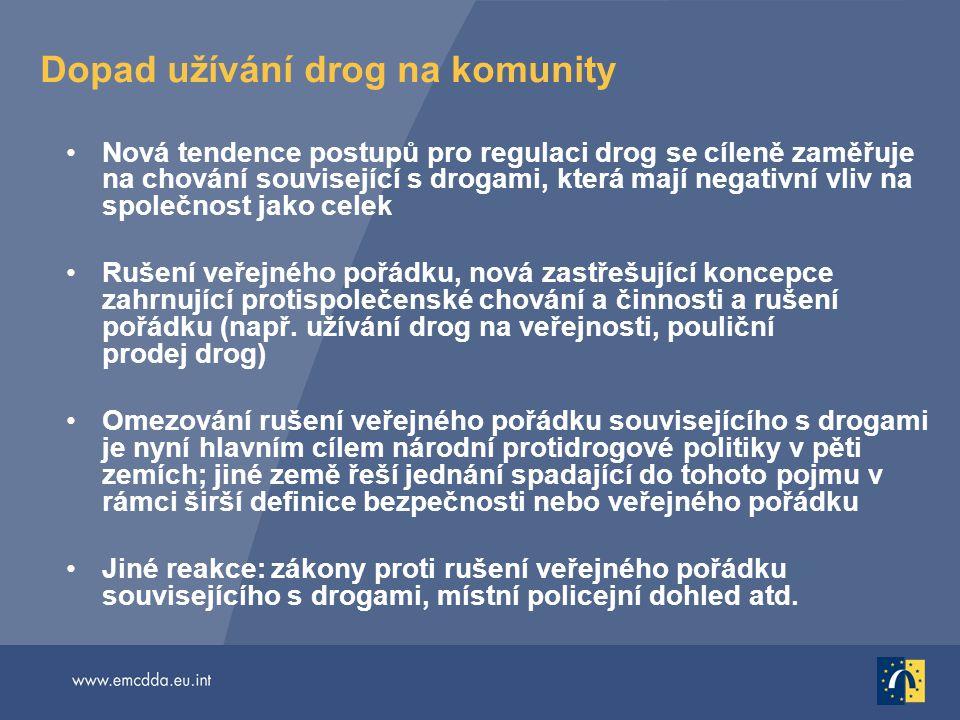 Dopad užívání drog na komunity