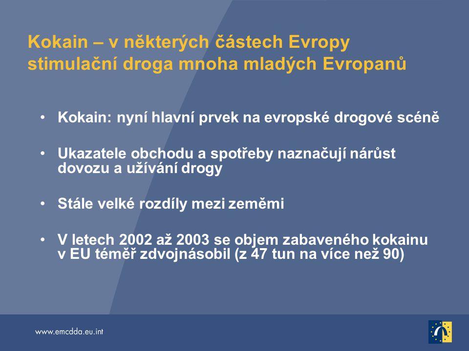 Kokain – v některých částech Evropy stimulační droga mnoha mladých Evropanů