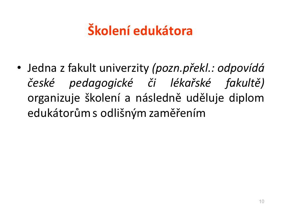 Školení edukátora