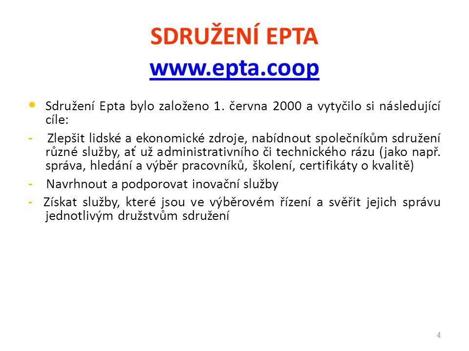 SDRUŽENÍ EPTA www.epta.coop