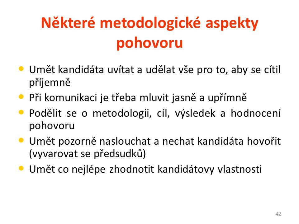 Některé metodologické aspekty pohovoru