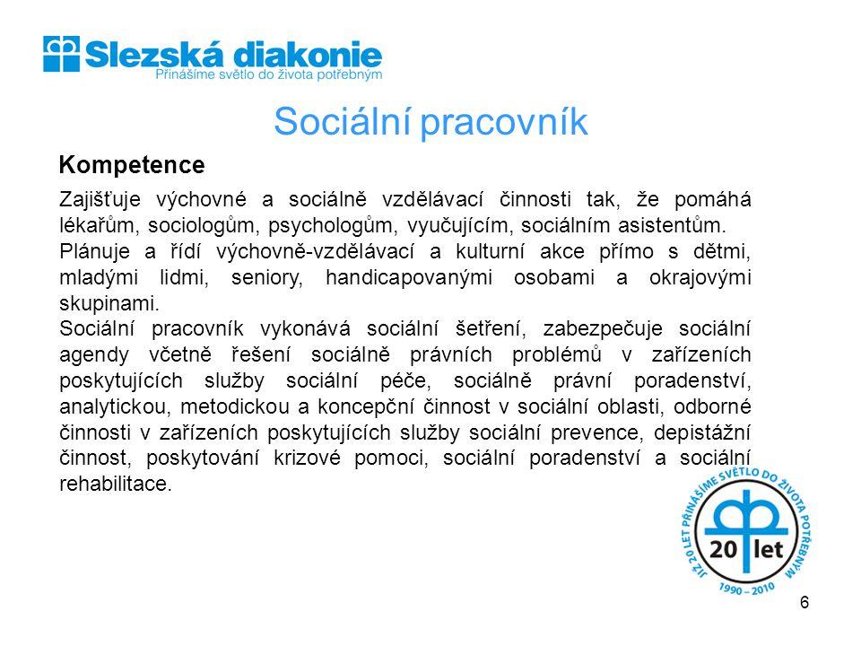 Sociální pracovník Kompetence