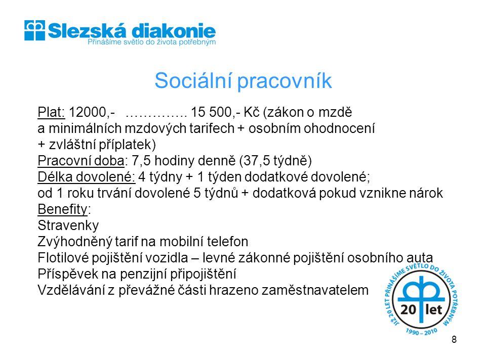 SLEZSKÁ DIAKONIE Sociální pracovník.