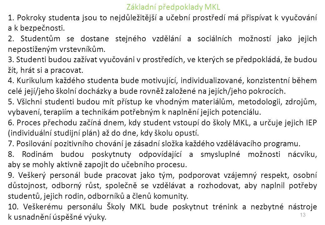 Základní předpoklady MKL