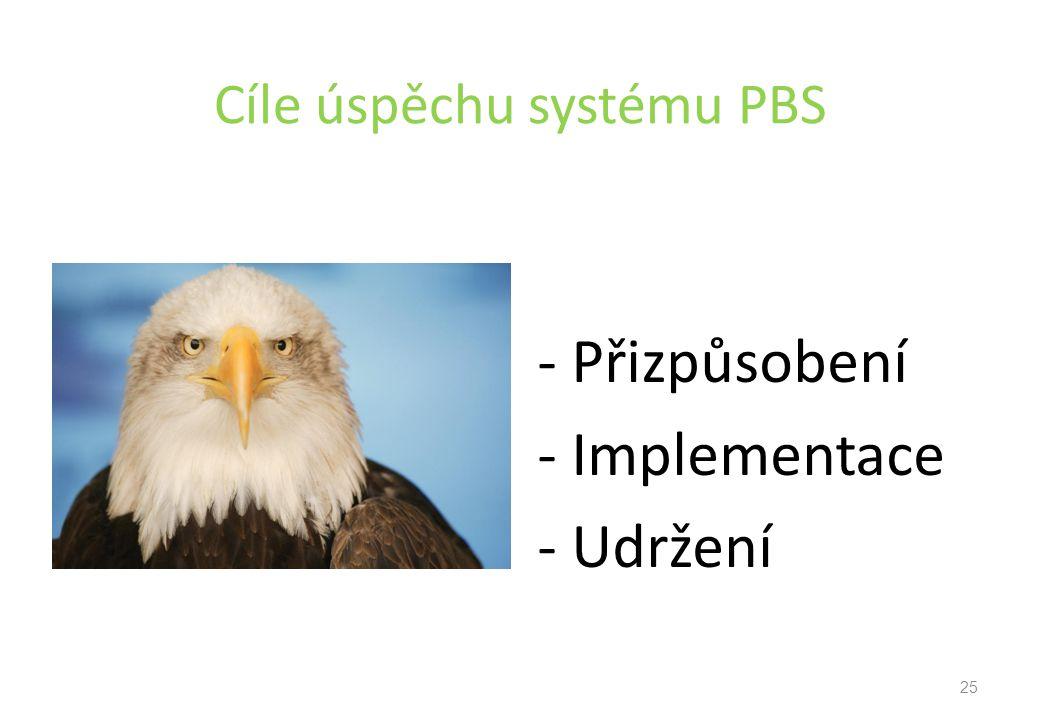Cíle úspěchu systému PBS