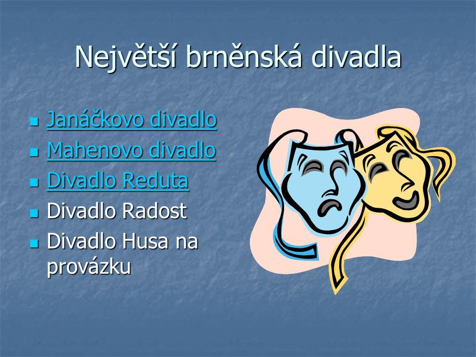 Největší brněnská divadla