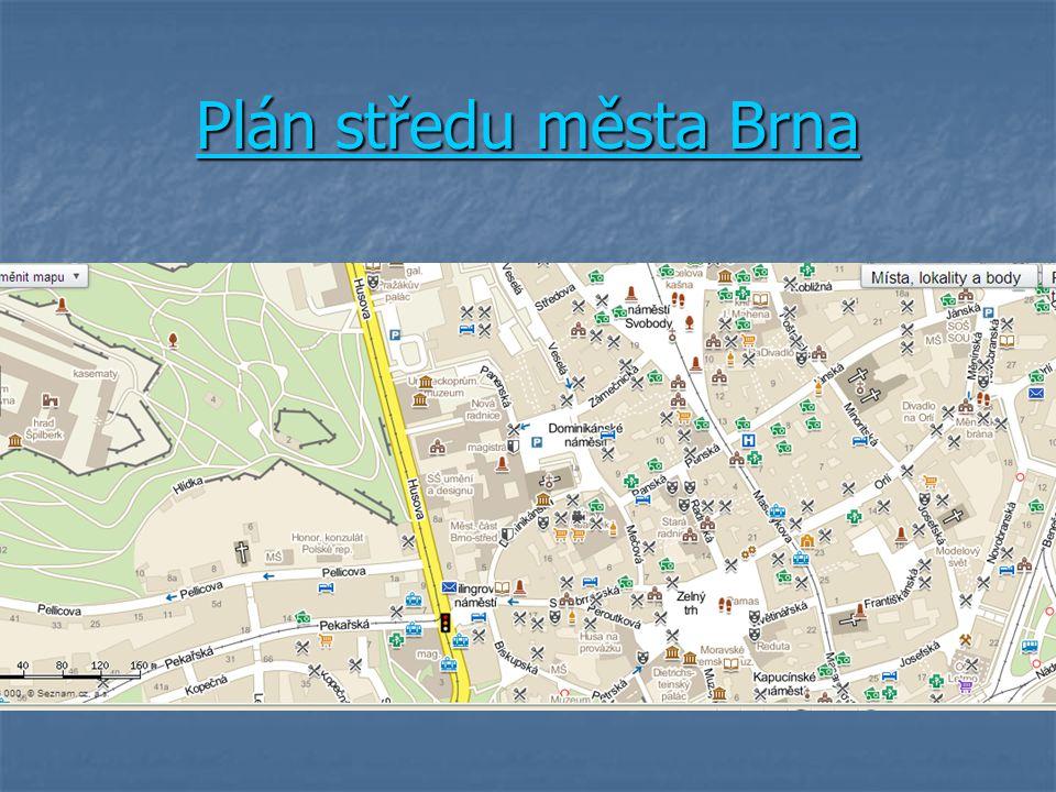 Plán středu města Brna